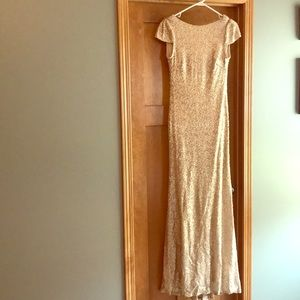 Gold Sequin floor length dress